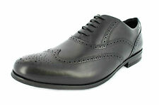 SALE CLARKS MENS BROGUE SHOES 'BRINT BROGUE' BLACK LEATHER LACE UP FORMAL/OFFICE