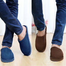 New Mens Unisex Indoor Home Soft Warm Cotton Shoes Anti-slip Casual Slippers HOT