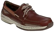 Mens Dunham Captain New Balance Waterproof Boat Shoes Extra Wide (4E) MCN410BR