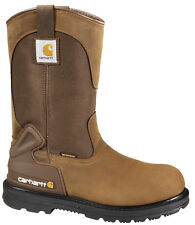 Men's Carhartt Wellington Work Boots Waterproof Steel Toe Brown (E,W) CMP1200