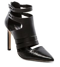 BCBG GENERATION CANON POINTED TOE CUTOUT BLACK SNAKE SEXY BOOTIE HIGH HEEL PUMP