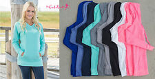New Womens long TUNIC HOODIE hooded sweater sweatshirt 10 colors Size S,M,L