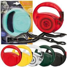 Roller Extendable Retractable Dog Leads 5M 16FT Extending 50KG 110lbs S/M/L Dogs