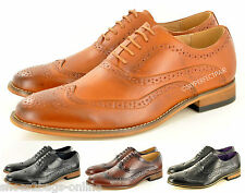 New Mens Leather Lined Brogue Formal Lace Up Office shoes Size 6 7 8 9 10 11 12