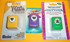 SMALL PAPER PUNCH CHOOSE BUTTERFLY, WILDLIFE FROG OR HEART FOR SCRAPBOOKING NEW