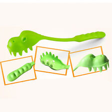 Crocodile Pasta Server Dinosaur Pasta Spaghetti Serving Spoon Fork Green/Pink