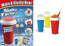 Slushy Factory Squeeze Cup Squeezy Freezy Slush Maker Iced Drink 5 Colours