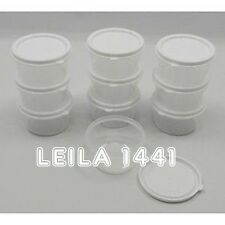 New Small Round Mini Clear Plastic Food/Craft/Bead Storage Container Box W/Lids