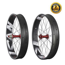 ICAN Carbon fat bike Wheelset Clincher Tubeless Ready 26er 32/32H 135/190mm