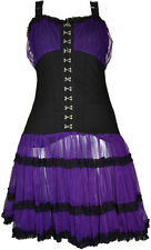 DRESS | Laticia [Purple] POIZEN INDUSTRIES clothing alternative gothic punk pinu