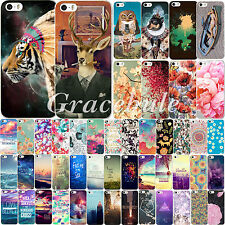 New Colorful Cover For Apple iPhone 4 4S 5 5S 5C Case Paysage Pattern Hard Skin