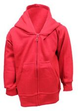 Boys thick zipped hoody hooded jacket red grey 3-4 5-6 7-8 9-11 12-13 14-15