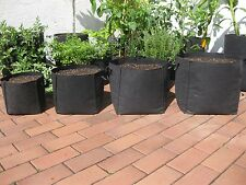 Squared fabric pots with handles Grow Bag Plant bot Smart root container -Black