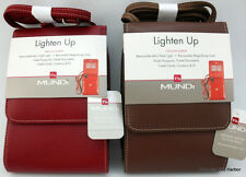Mundi Leather Lighten Up Mini Travel Bag Flashlight Magnifying Card NWT