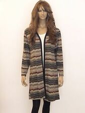 New womens green and brown zig zag design plus size jacket/ cardigan uk 18-28