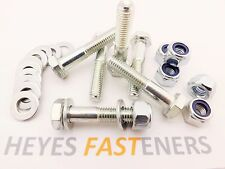 M10 x 45mm 8.8 HT HIGH TENSILE BOLT BZP Pack.Choice of Nut &Washers & Pack Qty
