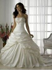 2015-2016 white -Ivory wedding dress in stock size 6--16 good price and quality
