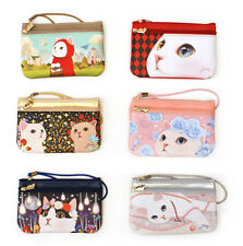 Choo Choo caramel pouch S_Cute Kitty Cat - Cosmetics Case Makeup Bag -DSKC