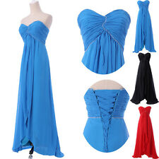 ON SALE 2015 Long Wedding Party Bridesmaid Gown Evening Prom Ball Formal Dresses