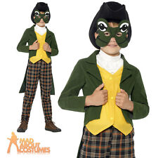 Boys Prince Charming Costume Child Mr Toad Frog Fancy Dress Outfit New Age 4-9