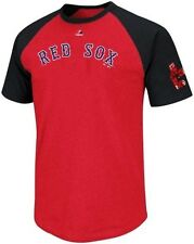 Boston Red Sox Cooperstown Collection Retro Raglan Mens T Shirt Big & Tall Sizes