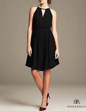 NWT Banana Republic $130 Women BR Monogram Chiffon Halter Dress 2,4,6,8,10,12,14