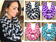 Women Scarves Infinity 2Circle Loop Cable Cowl Neck Scarf Winter Soft Shawl Wrap