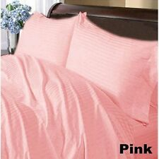 Gorgeous Bedding Items 1000TC 100%Egyptian Cotton Pink Strip Select Size & Item
