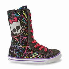 Monster High Hi-Top  Fashiion Sneakers Athletic Tennis Shoes Glow in the Dark