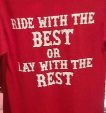 HELLS ANGELS SUPPORT T-SHIRT RED BEST CLEARANCE 4xl and small