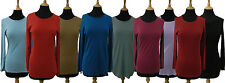 Ladies Marks & Spencer M&S Collection™ Long Sleeve Cotton T-Shirt Top UK 8 - 22