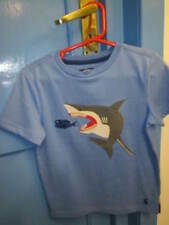 Joules ARCHIE short sleeve tshirt light blue with shark fish age 3 BNWT