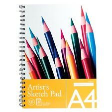 A4 SPIRAL BOUND ARTIST SKETCH DRAWING BOOKS PADS 30 SHEETS 135GSM QUALITY PAPER