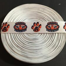 "7/8"" Auburn Tigers Grosgrain Ribbon by the Yard (USA SELLER!)"