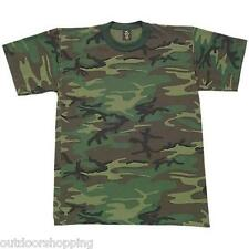 WOODLAND CAMOUFLAGE USA MADE KIDS SHORT SLEEVE T-SHIRT - Very Comfortable Tee