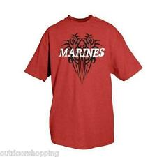 RED MARINES IMPRINTED TRIBAL 1 SIDED T-SHIRT - Short Sleeve Tee