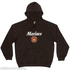 Black US MARINES CORPS IMPRINTED CASUAL PULLOVER SWEATER - Winter Warm, USMC