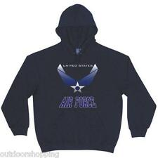 Navy Blue US AIR FORCE WING STAR IMPRINTED PULLOVER SWEATER - Winter Warm, USAF