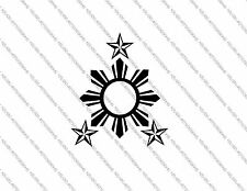 Three Stars and the Sun (Philippines, Filipino, Tagalog) Vinyl Sticker