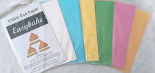 Rice Paper Sheets 6 Pack Edible Printable White Blue Pink Yellow Green Orange
