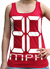 88 Mph Front Rear Back To The Future Ladies Soft Style Red Vest Sm - 2Xl