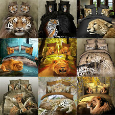 2015 Hot 3D Animal Printed Home textile Bed sheet Quilt Cover Bedding Set of 4pc