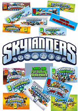 6 PERSONALISED SKYLANDERS CHOCOLATE BAR WRAPPERS. MIXED DESIGNS. BIRTHDAY PARTY