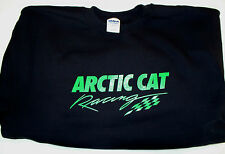 Arctic Cat Racing Screen Printed Black Long Sleeve T-Shirt 6 oz. 100% Cotton