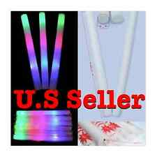 12 24 36 48 60 100 pcs Light Up Foam LED Sticks Baton Rave Party Mix Colors Tube
