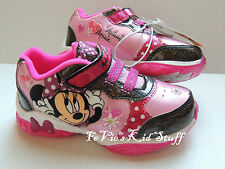 Disney Minnie Mouse Light-up Sneakers Tennis Shoes Sizes 6 7 8 9  New w/o Box