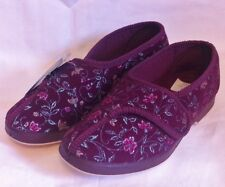GBS SLIPPERS - WILMA - SIZES UK 3 BLUE OR WINE