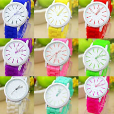 New Womens Casual Quartz Analog Watch Hot Silicone Student Sport Wristwatches