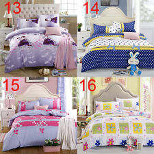 New Single Double King Duvet Cover + Pillow Case + Sheet Bedding Set Soft Cotton