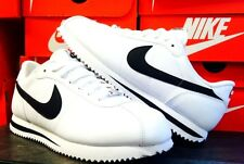 Nike Cortez Basic Leather '06 White Black 316418-102 Athletic Sneakers Men's